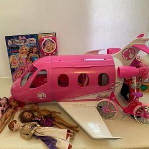 Barbie lot with plane & bike